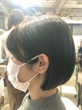 黒髪風カラー☆ミニボブ♪
