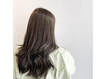 暗髪で叶う透明感★アッシュグレー