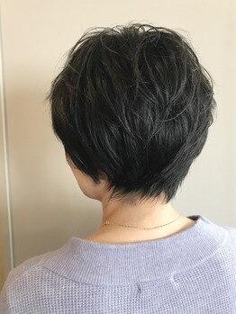 クールなスッキリ黒髪ショート★