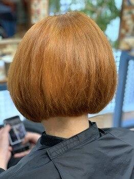 黒髪からのベージュブラウン♪