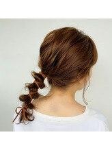 紐を使ったヘアアレンジ!