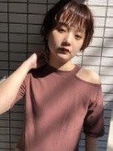 アプリコットオレンジカラー【ショートヘアカタログ】