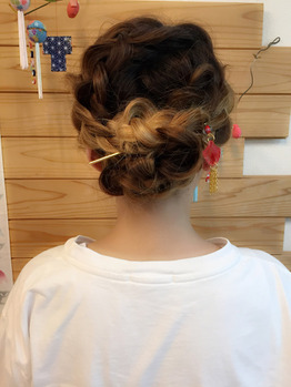 浴衣アレンジヘア☆ 幸町にある美容室sienne(ジェンヌ)