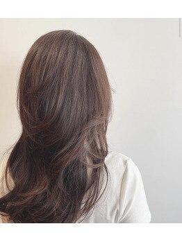 髪質改善メニューで美髪ミディアム