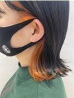 『カラー遊び』グレーとオレンジインナー★自由が丘BUZZ秋山